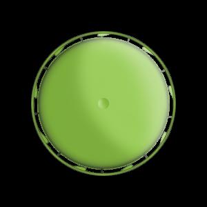 Illustration d'un bouchon à vis avec une bande inviolable à cliquet - vue de dessus