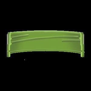 Illustration d'un bouchon à vis avec une bande d'inviolabilité droite moulée à anneau - coupe transversale