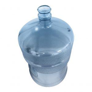 Bouteille (Cruche/Tourie) Bleu Transparent de 18,9 litres (18,9l) / 5 gallons (5gal) d'eau chaude HOD avec bague de finition 55 mm couronne et poignée droite pour les fermetures à pression Dessus