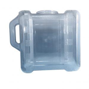 Bouteille bleu transparente pour réfrigérateur en PC de 7,5 litres (7,5 litres) / 2 gallons (2 gal) avec poignée et robinet - côté