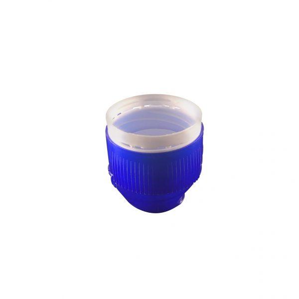 Fermeture Bouchon Sport Bleu Foncé et Blanc 2 Pièces 30/25 à charnière Dessous