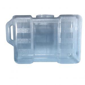 Bouteille bleu transparente pour réfrigérateur en PC de 11,3 litres (11,3 litres) / 3 gallons (3 gal) avec poignée et robinet - côté