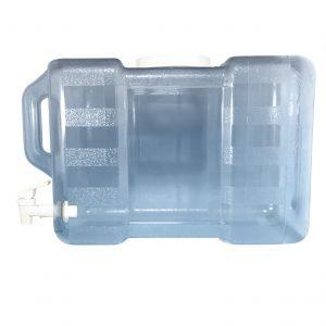 Bouteille bleu transparente pour réfrigérateur en PC de 11,3 litres (11,3 litres) / 3 gallons (3 gal) avec poignée et robinet - côté valve