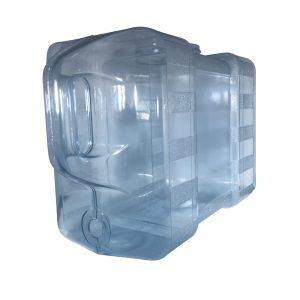 Bouteille bleu transparente pour réfrigérateur en PC de 11,3 litres (11,3 litres) / 3 gallons (3 gal) avec poignée et robinet - Perspective
