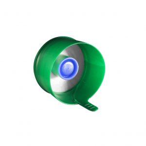 Fermeture Bouchon à Pression Vert Pâle No Spill HOD 55mm Côté