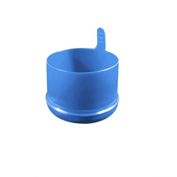 Fermeture Bouchon à Pression Bleu Pâle No Spill HOD 55mm Dessous
