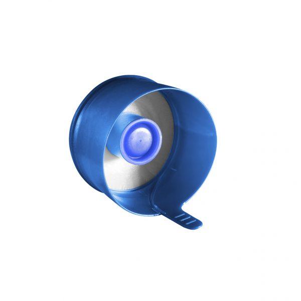 Fermeture Bouchon à Pression Bleu Pâle No Spill HOD 55mm Côté