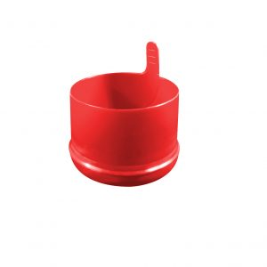 Red HOD No Spill 55mm Snap Fit Closure Bottom