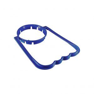Poignée Bleue Foncée pour Bouteille en Plastique avec Col de 55mm