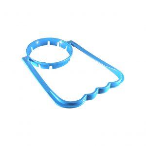 Poignée Bleue Pâle pour Bouteille de Plastique avec Col de 55mm