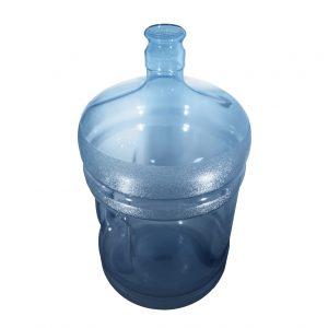 Bouteille (Cruche/Tourie) Bleu Transparent de 18,9 litres (18,9l) / 5 gallons (5gal) d'eau chaude HOD avec bague de finition 55 mm couronne et poignée incurvée pour les fermetures à pression Dessus